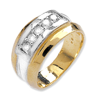 9K Gold Diamond Channel Set Ring (0.33ct)
