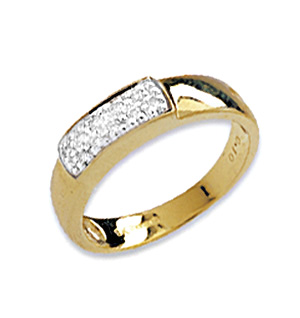 9K Gold Diamond Set Rings (0.10ct)