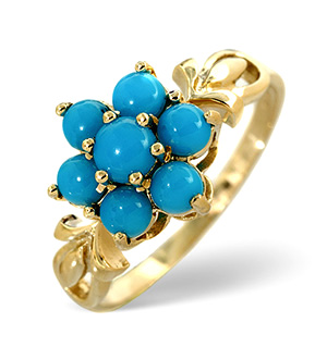 Turquoise Ring Turquoise 9K Yellow Gold