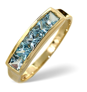Blue Topaz Ring Sky Blue topaz 9K Yellow Gold