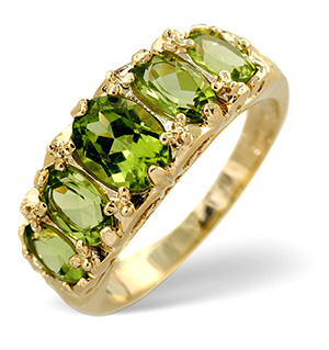 Peridot Ring 9K Yellow Gold