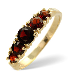 Garnet Ring Garnet 9K Yellow Gold