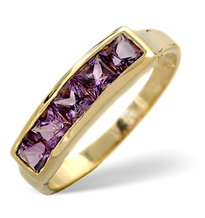 Amethyst Ring Amethyst 9K Yellow Gold