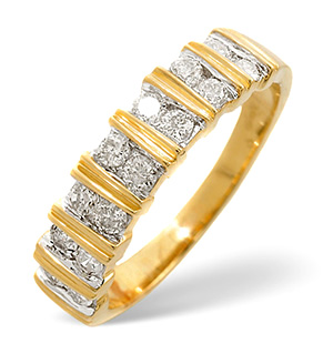 Half Eternity Ring 0.50CT Diamond 9K Yellow Gold