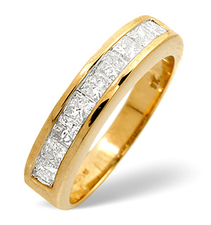 Half Eternity Ring 0.70CT Diamond 9K Yellow Gold