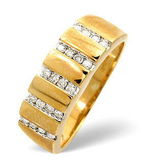 18K Gold Brilliant Channel Set Diamond Design Ring H/si Anchor Certified