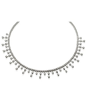 18K White Gold Diamond Necklace 5.00ct