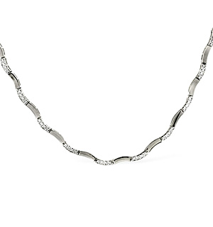 Collarette Necklace 0.55CT Diamond 9K White Gold