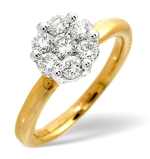 Solitaire Ring 0.27CT Diamond 9K Yellow Gold