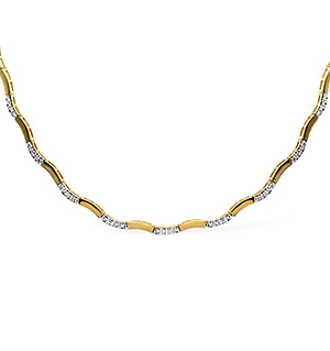 Collarette Necklace 0.55CT Diamond 9K Yellow Gold