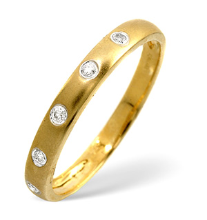 Half Eternity Ring 0.07CT Diamond 9K Yellow Gold