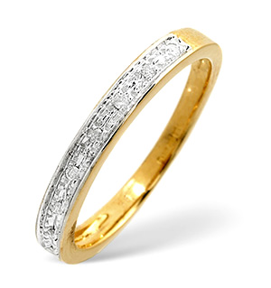 Half Eternity Ring 0.05CT Diamond 9K Yellow Gold