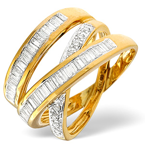 18K Gold Diamond Ring 0.85ct