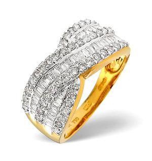 18K Gold Diamond Ring 1.00ct