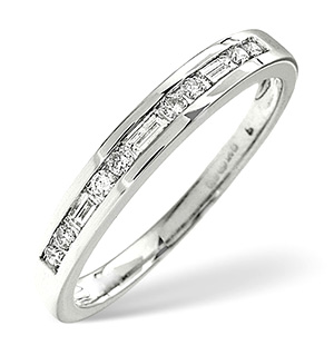 H/Si Half Eternity Ring 0.25CT Diamond 18K White Gold