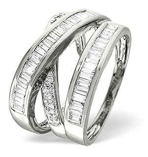 18K White Gold Diamond Ring 0.85ct