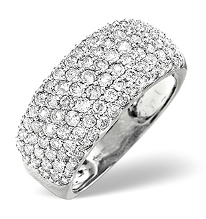 18K White Gold Diamond Ring 1.35ct