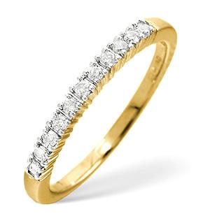 Half Eternity Ring 0.30CT Diamond 9K Yellow Gold