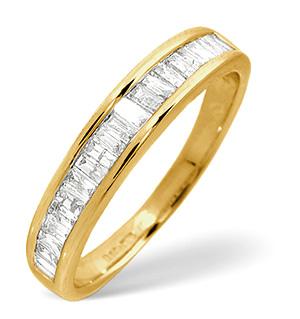 Half Eternity Ring 0.50CT Diamond 9K Yellow Gold