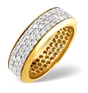 H/Si Eternity Ring 1.30CT Diamond 18K Yellow Gold