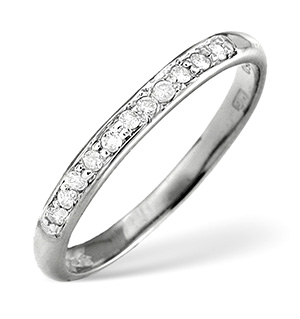Half Eternity Ring 0.25CT Diamond Platinum
