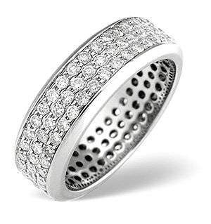 H/Si Eternity Ring 1.30CT Diamond 18K White Gold