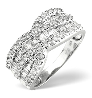 18K White Gold Diamond Ring 1.00ct