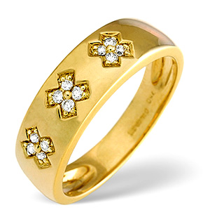 Fancy Ring 0.10CT Diamond 18K Yellow Gold