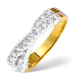18K Gold Diamond Ring 0.50ct H/si