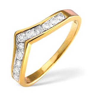 18K Gold Diamond Ring 0.30ct H/si