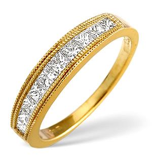 18K Gold Princess Cut Diamond Eternity Ring