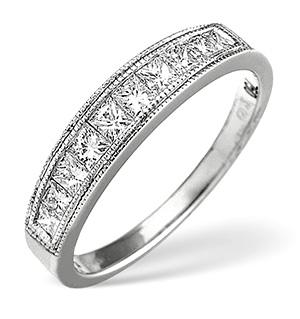 18K White Gold Princess Cut Diamond Eternity Ring