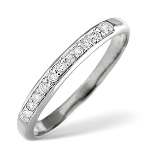 Half Eternity Ring 0.10CT Diamond Platinum