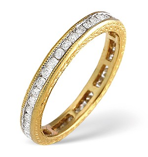 18K Gold Channel Set Brilliant Full Eternity Ring H/si