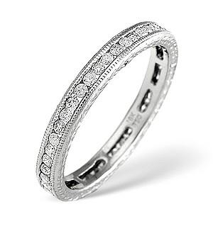 18K White Gold Brilliant Diamond Full Eternity Ring