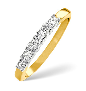 18K Gold Five Stone Diamond Ring (1.00ct)