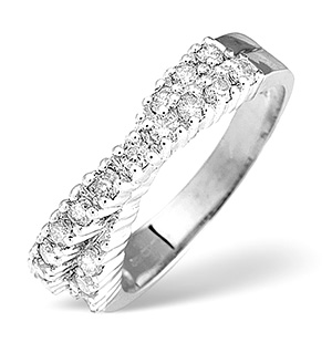 18K White Gold Diamond Ring 0.50ct H/si
