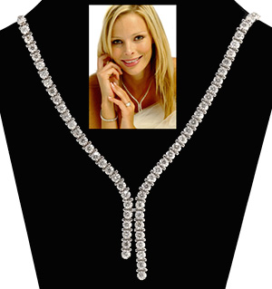 18K White Gold Diamond Necklace 10.00ct