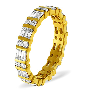 MIA 18K Gold DIAMOND FULL ETERNITY RING 2.00CT G/VS