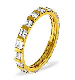 JESSICA 18K Gold DIAMOND FULL ETERNITY RING 1.00CT G/VS