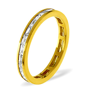 LILY 18K Gold DIAMOND FULL ETERNITY RING 2.00CT G/VS
