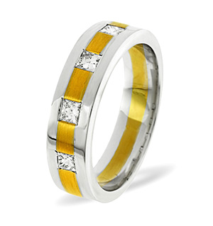 Lauren 4 Stone 18K Two Tone Diamond Wedding Ring 0.35CT H/SI