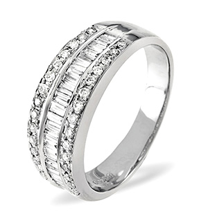 18K White Gold Diamond Ring 0.58ct