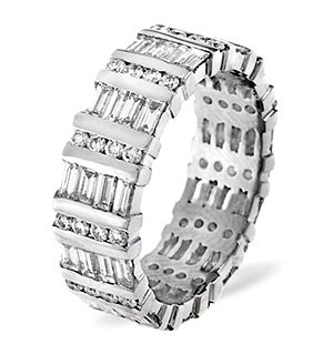 MIA 18K White Gold DIAMOND FULL ETERNITY RING 1.00CT G/VS