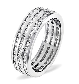 AMY PLATINUM DIAMOND FULL ETERNITY RING 1.50CT G/VS