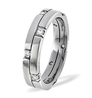 Ellie 18K White Gold Diamond Wedding Ring 0.22CT H/SI