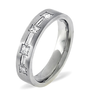 Katie 18K White Gold Diamond Wedding Ring 0.49CT H/SI