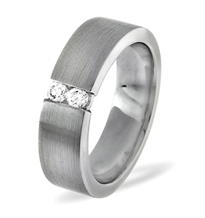Hannah 18K White Gold Diamond Wedding Ring 0.12CT H/SI