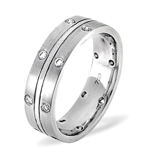 Lucy Platinum Wedding Ring 0.21CT H/SI