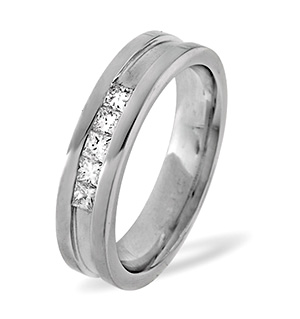 LADIES PALLADIUM DIAMOND WEDDING RING 0.22CT G/VS